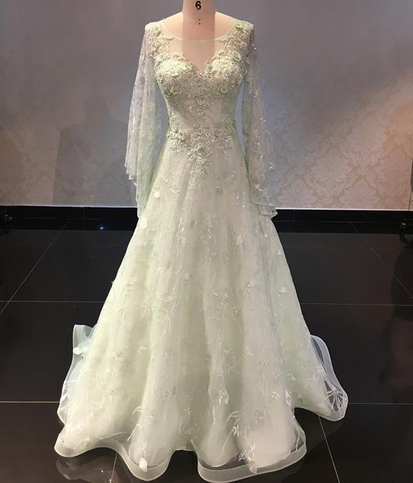 2cf2faa53a95 Palegreen Nice Design Fashion Ladies Evening Gowns - Buy Ladies Evening  Gowns