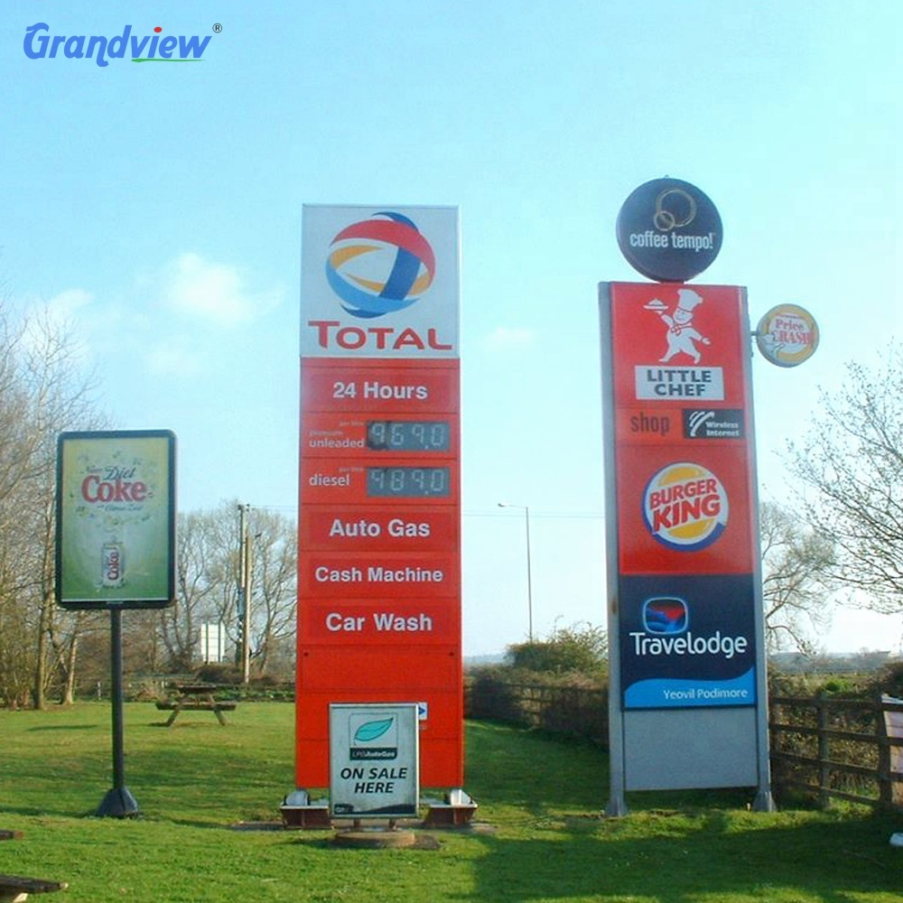 Gas Station Names Dessel Price Led Display Advertise Board For Oil Station  - Buy Gas Station Advertise Board,Dessel Price Led Board,Advertising Board