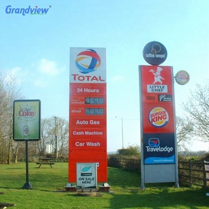 Gas station names dessel price led display advertise board for oil station
