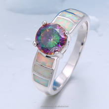 fashion accessories engagement fire opal and AAA cz ring