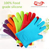Food grade durable Silicone Heat Resistant Grilling BBQ Gloves for Cooking/Baking