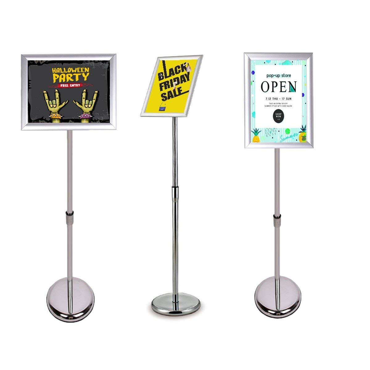 Get Quotations Coolfire Adjule Poster Stand Sign Holder With Display Frame Vertical And Horizontal View For 8 5