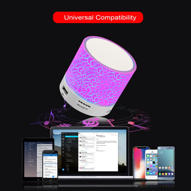 Best A9 LED Bluetooth Speaker Mini Speakers Hands Free Portable Wireless Speaker With TF Card Mic USB Audio Music Player