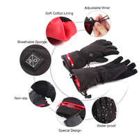 Mens Motorcycle Rechargeable Battery Heated Gloves
