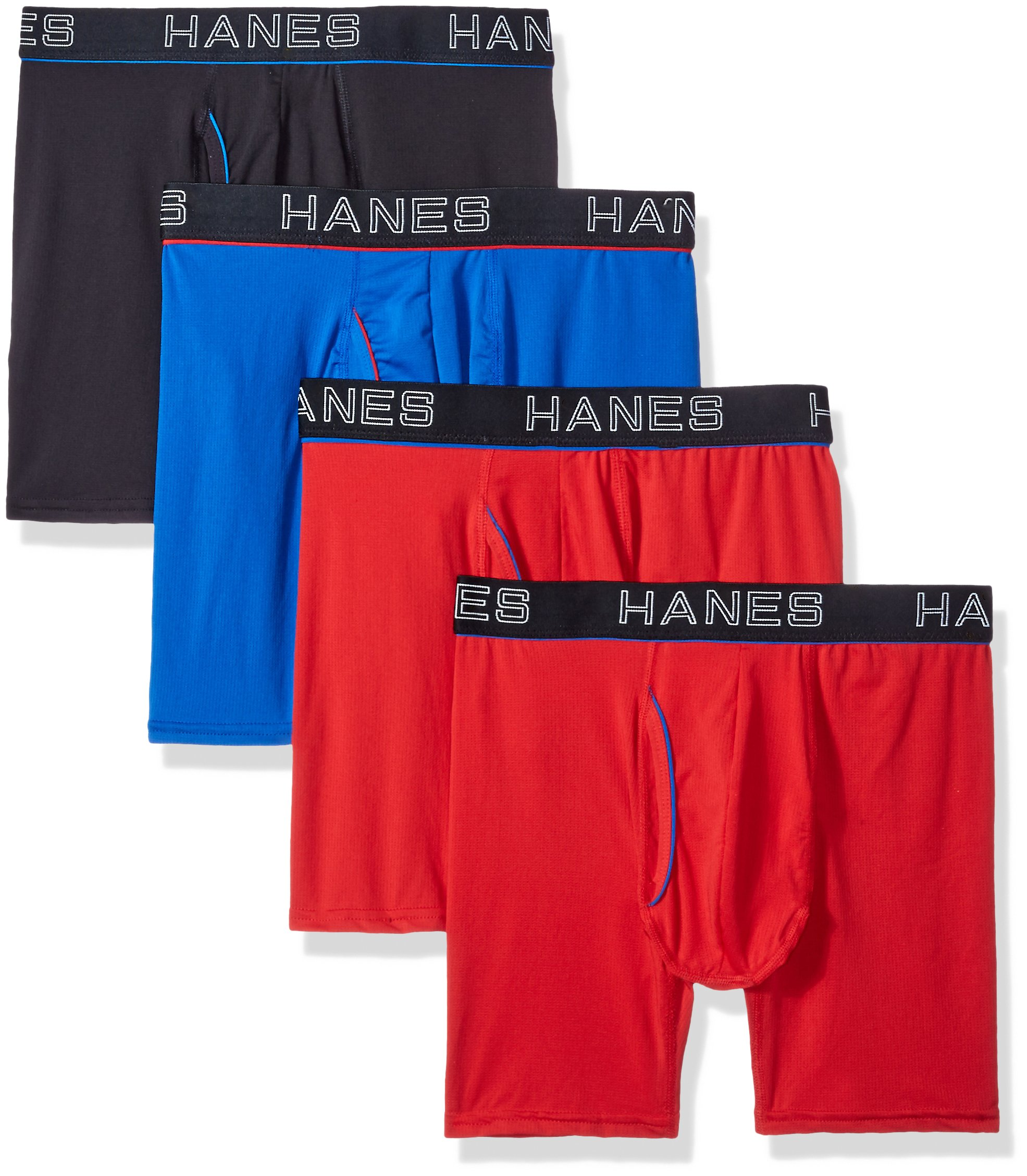 Hanes Ultimate Men's Comfort Flex Fit Ultra Lightweight Mesh Boxer Brief 4-Pack