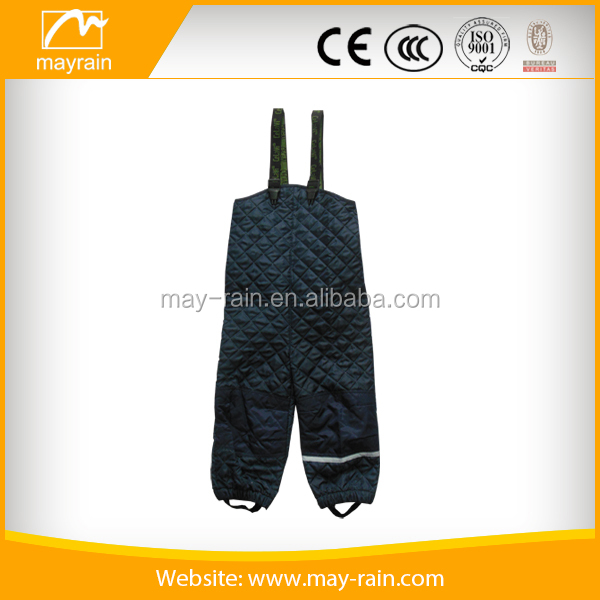 95%polyester and 5%elastane child rain pants high quality snowing pant for kid