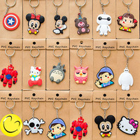 Wholesale custom soft pvc keychain, rubber key ring,cartoon key chain