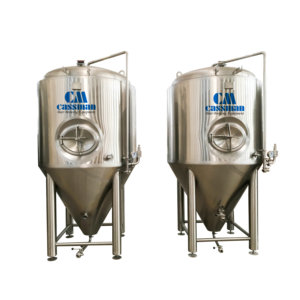 500l stainless steel movable conical fermenter