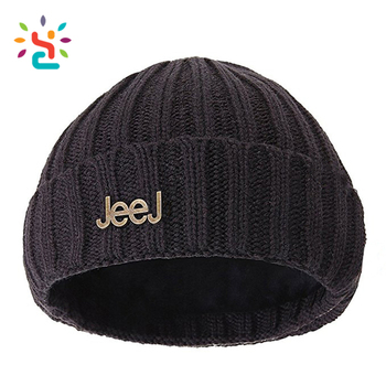3d1ff60cff5 Black hype A-4 Watch Caps touca custom metal patch cute winter acrylic  beanie Knit