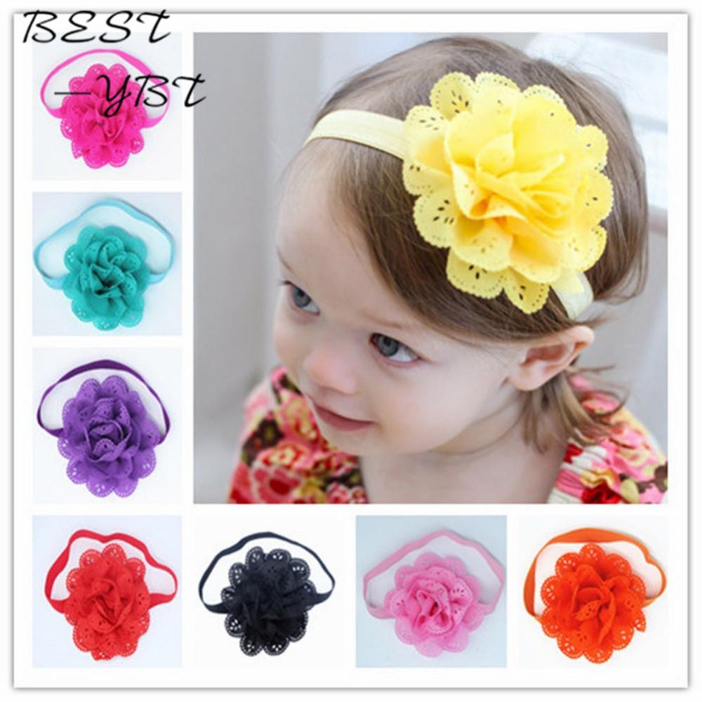 88dcdb52800d Fancy Kids Headband European American Style Korean Mesh Elastic Children s  Hairband Baby Colorful Flower Cute Hair Accessories