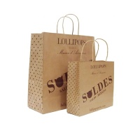 Manufacturers FSC Certified Good Quality Recyclable Custom Printed Craft Brown Paper Kraft Bag For Shopping