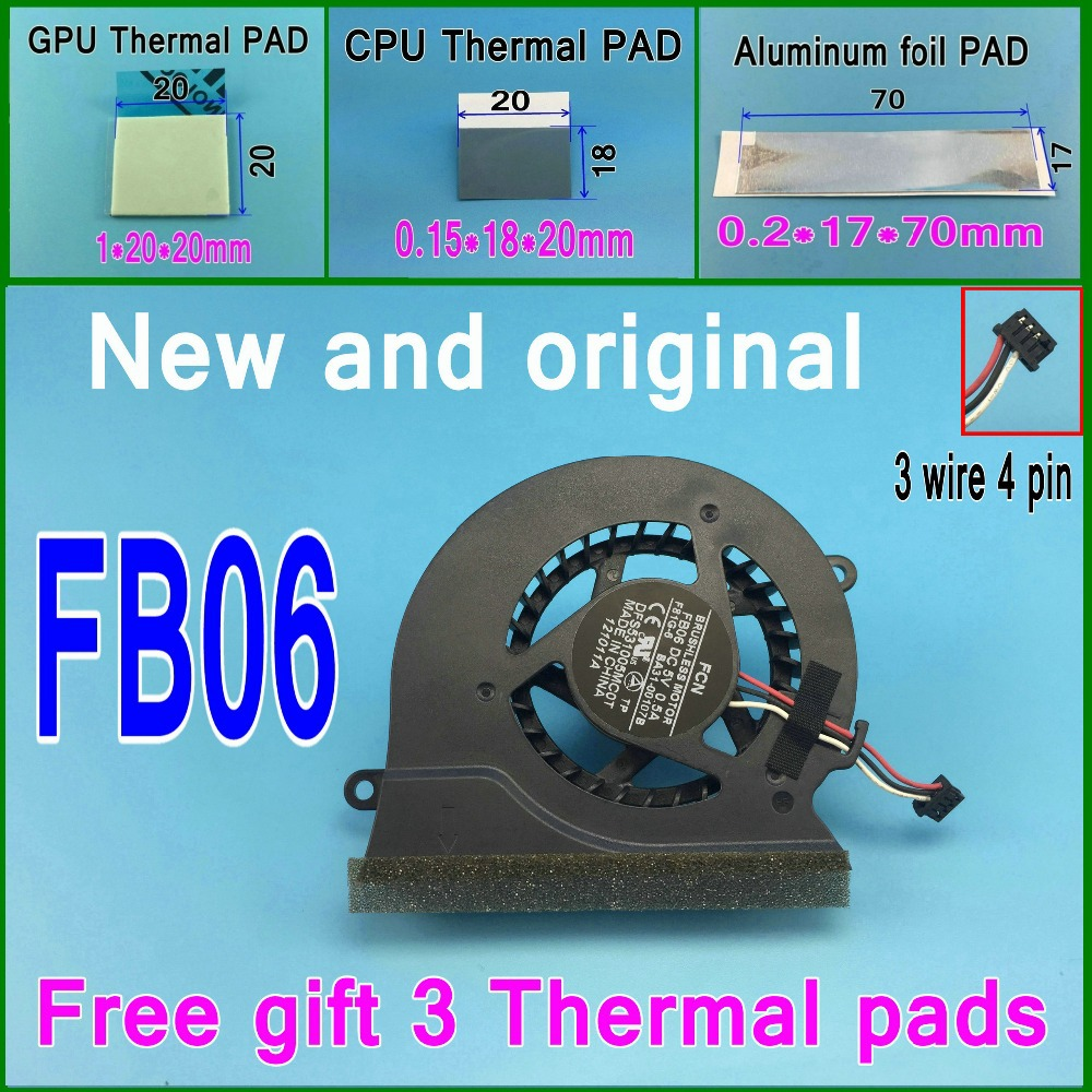 3 колодки DFS531005MC0T FB06 BA31-00107B для SAMSUNG NP200A4B NP300 NP300E4A NP305E5A NP300V4A-S04 NP300V5A кулер вентилятор охлаждения