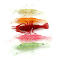 5 pcs bag Mixed Color Isca Artificial Shrimp Fishing Lure Soft Bait 8cm 3 6g Sea