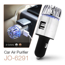 New Products in 2019 Dual 2.1A USB Charger Ionic Car Air 청정기는 알러지 유발 물질을 JO-6291