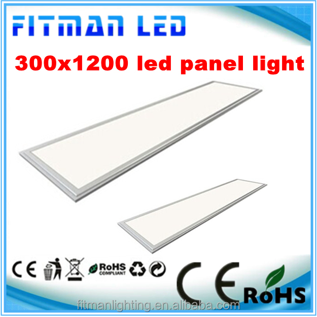 china led flat panel ceiling light 30 x 120cm for office