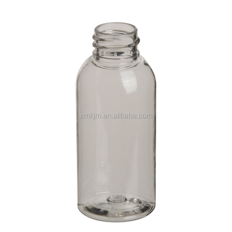 50 ml transparent mini lotion plastic cosmetic pet bottle