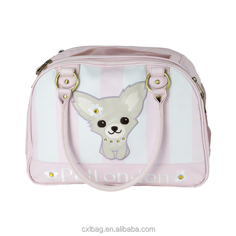 Stylish Pink Pet Dog Cat Carrier Bag/High-quality dog cat carry hangbag