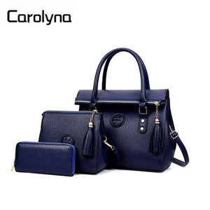 2018 New Design Fashionable 3 Pcs in 1 Set Personalized PU Handbag