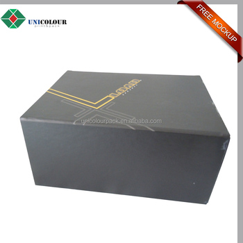 big strong cardboard folding box template with custom design
