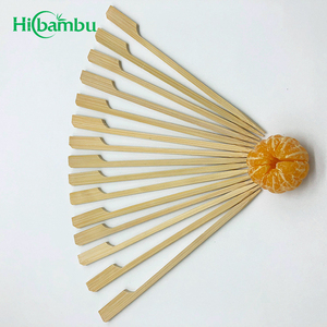 Factory wholesale natural disposable flat bamboo teppo bbq sticks