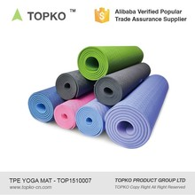 New Product Anti Slip Eco Friendly Silk Screen Print Fitness TPE Yoga Mat