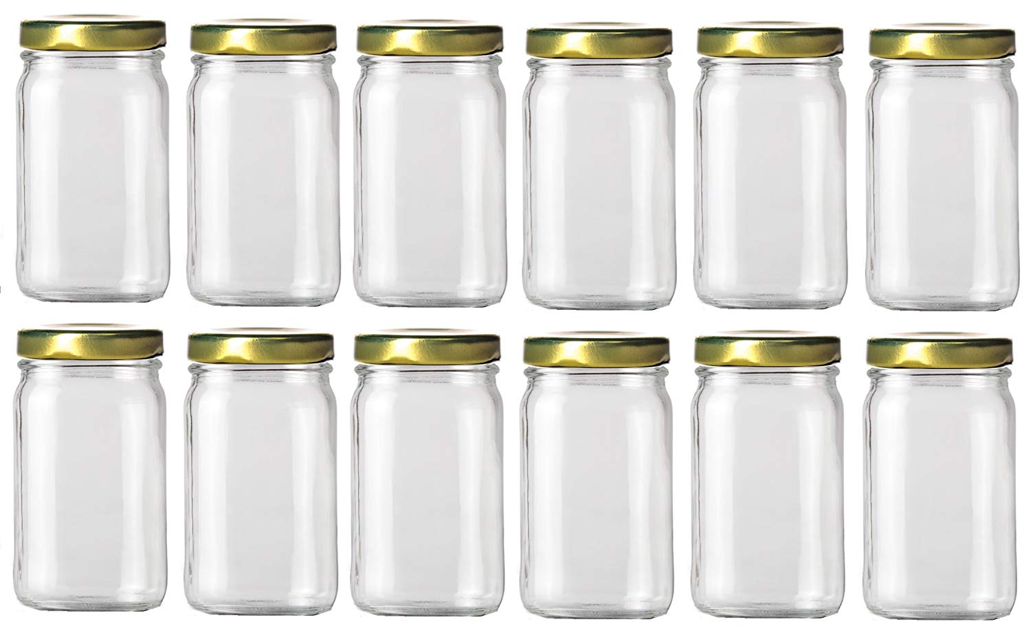 1439eb45fee7 Buy Nakpunar 12 Pcs, 8 Oz White Double Wall Plastic Jars with Dome ...