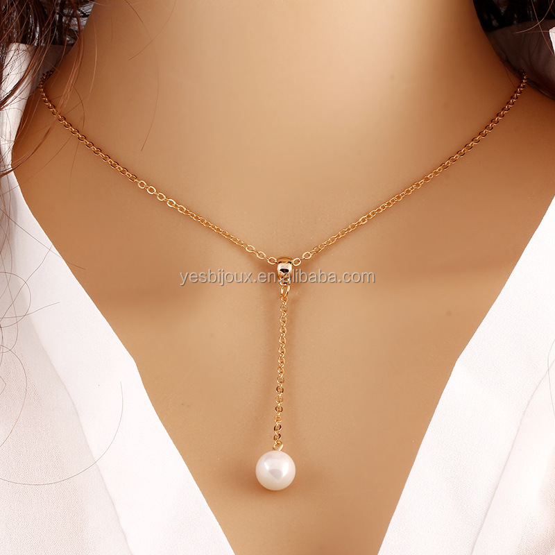 Cheap fashion korean necklace wholesale pearl charm jewelery фото