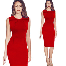 New Fashion OL Wanita Wanita Kantor Pakaian <span class=keywords><strong>Dress</strong></span> selutut <span class=keywords><strong>Bodycon</strong></span> Slim Pensil Party <span class=keywords><strong>Dress</strong></span>