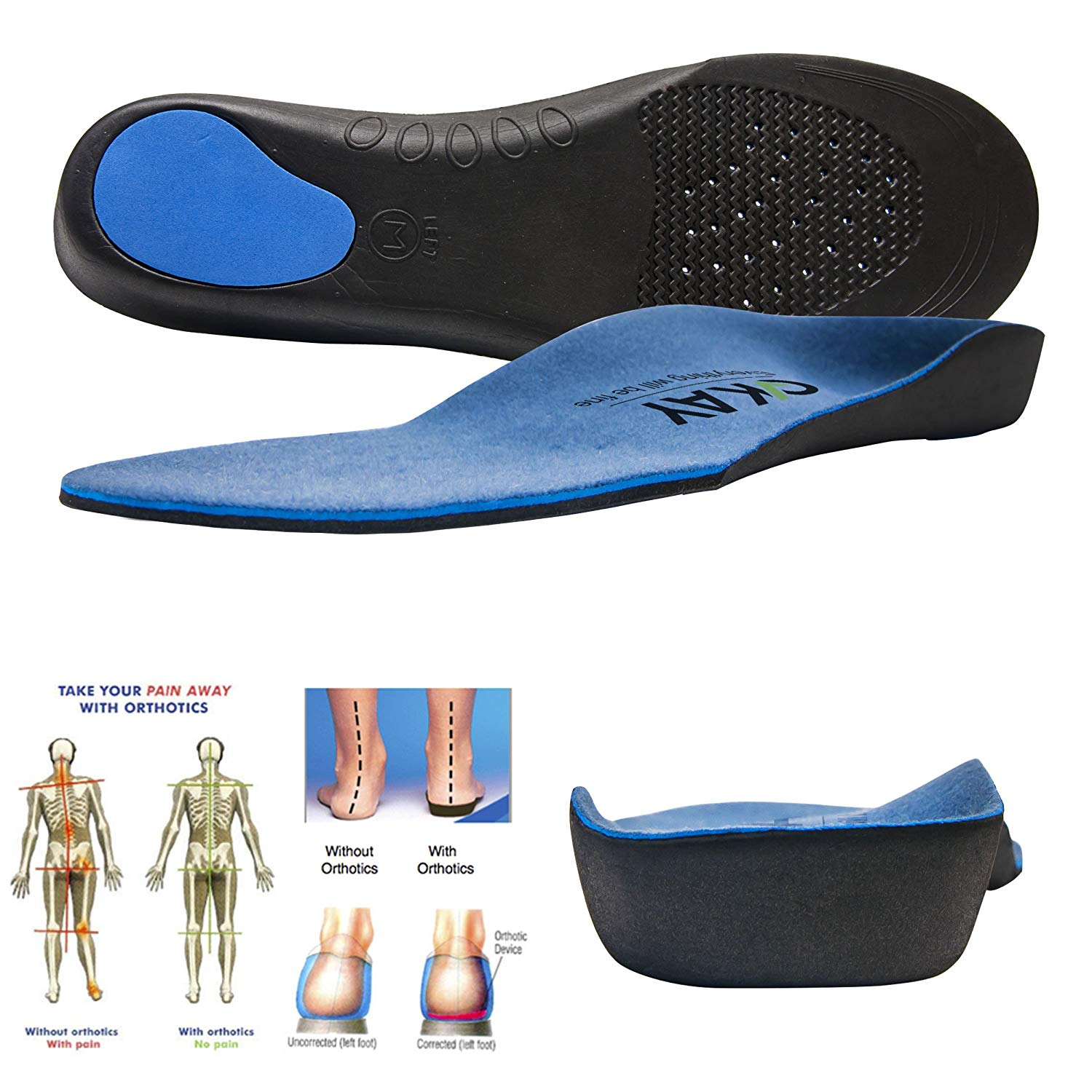 e49bff2876 Get Quotations · Arch Support Orthotic Shoe Insoles for women-men Shoe  Inserts Recommended for Plantar Fasciitis Fallen