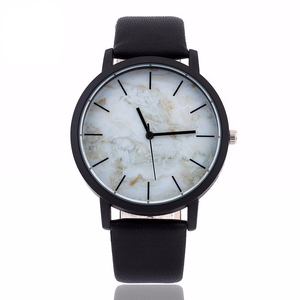 Jam tangan leather strap wrist watch women, lady stainless steel case 316l