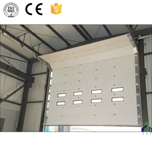 CE approved sliding steel main gate with pedestrian door for industry