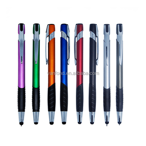 Custom Printed Logo Plastic Pens with Touch Stylus for Phone/Laptop