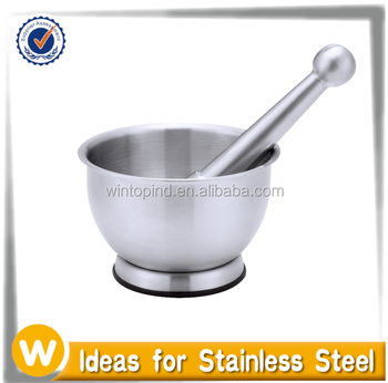 Stainless Steel Mortar and Pestle / Spice Grinder / Garlic Press