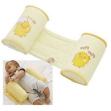 Comfortable Cotton Anti Roll Pillow Cute Baby Toddler Safe