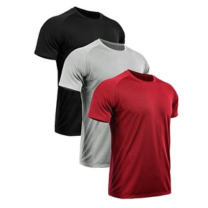 100-Polyester-New-Design-T-shirt-Blank running fitness t shirts for sport