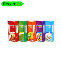 ordinary type 52mm width male condom with fruit flavors
