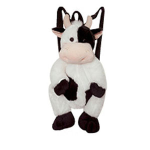 plush cow backpack for kids, stuffed toy cow backpack