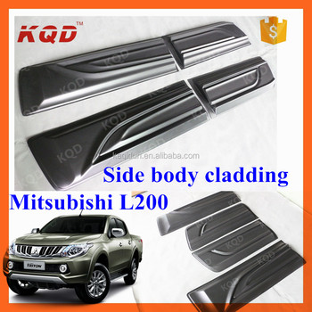 new mitsubishi pickup 2016 4 door side body molding for mitsubishi