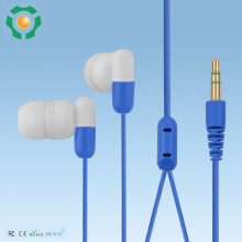 Super bass headset, flat wire earbuds, plastic earphone
