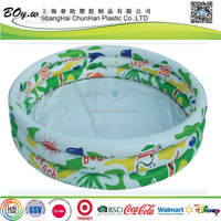 fashion full cover printing round kids inflatable pvc pool