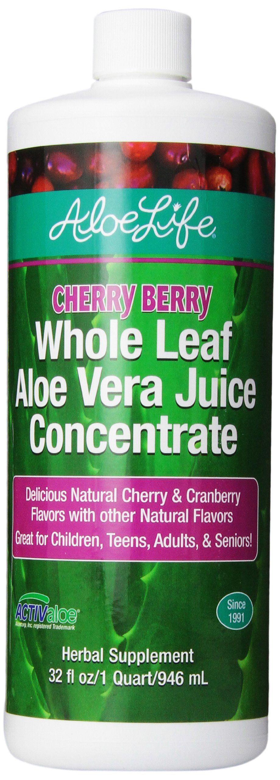 Aloe Life Nutritional Supplements, Cherry Berry, 32 Ounce