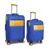 Chinese kongzhongniao factory new design suitcases four wheels polyester material 3 pcs set trolley luggage