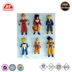 2015 ICTI factory OEM plastic mini human figures, naruto mini figures