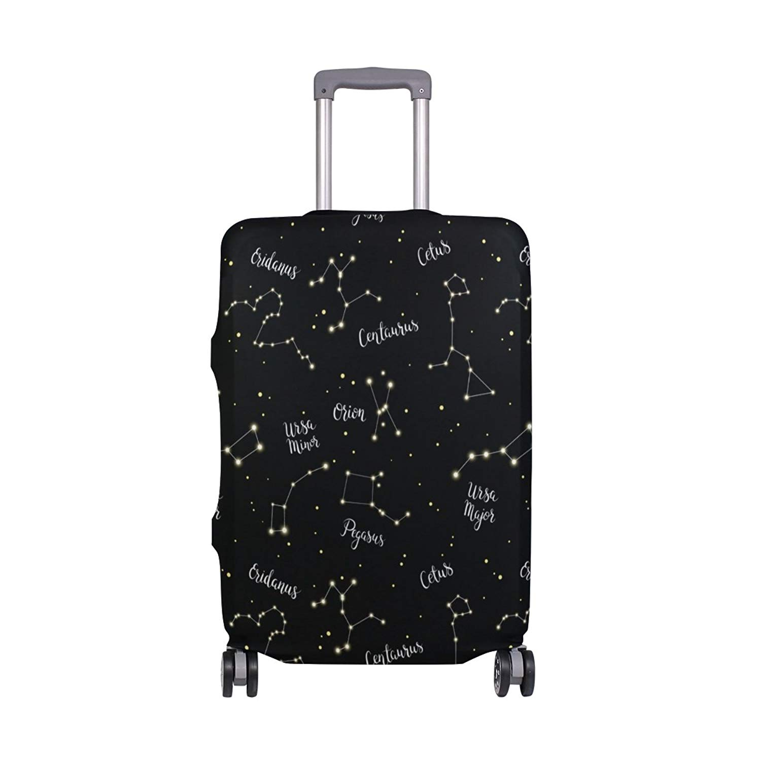 Cute 3D Hand Drawn Flowers Animals Pattern Luggage Protector Travel Luggage Cover Trolley Case Protective Cover Fits 18-32 Inch
