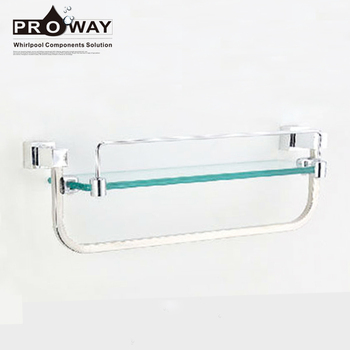 Stainless Steel Bathroom Towel Rack Set Accessories Glass Shelf With ...