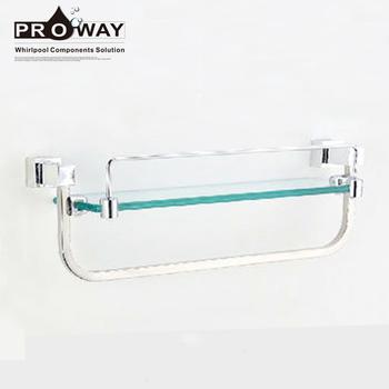 Stainless Steel Bathroom Towel Rack Set Accessories Gl Shelf With Bar Mounting Bracket