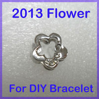 Alloy DIY slide charms for 8mm bracelet #3218