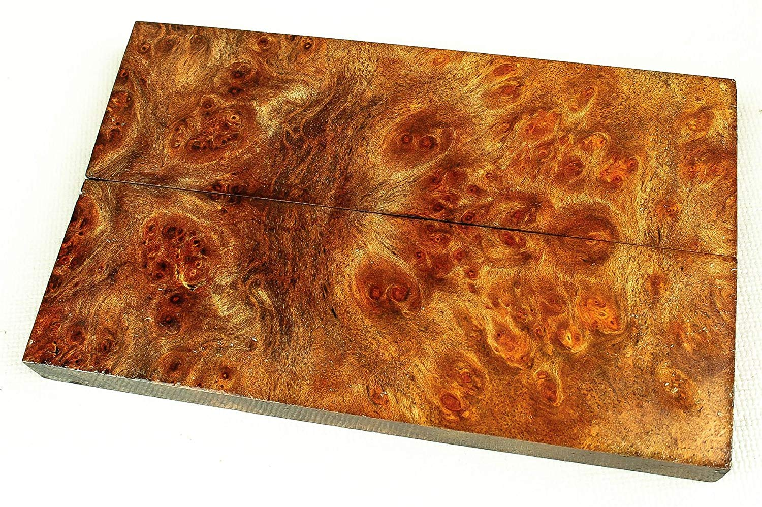 Get Quotations Gmelia Burl Exotic Wood Knife Scales Turning Craft Ilized Scl6496