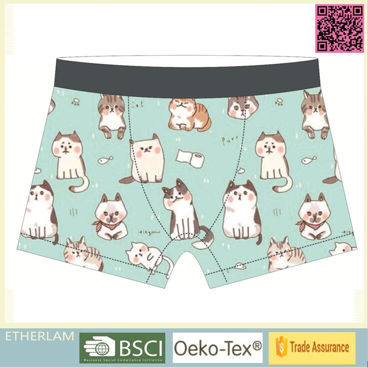 Christmas Light Green Cat Cute Color custom boxers men underwear men mature underwear models men
