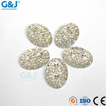 DIY flat back Oval Shape GuoJie garment accessories Resin Stones